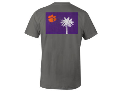Clemson Tigers NCAA Men's Mascot State Flag T-Shirt