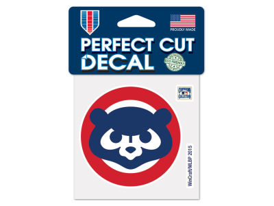 Chicago Cubs 4x4 Die Cut Decal Color