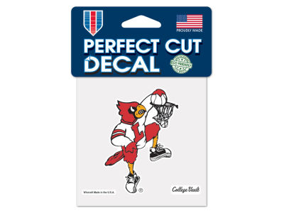 Louisville Cardinals 4x4 Die Cut Decal Color