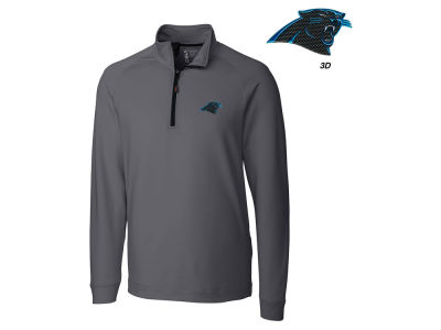 Carolina Panthers Cutter & Buck NFL Men's Jackson Overknit 1/4 Zip Pullover