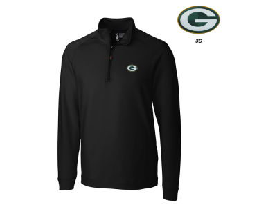 Green Bay Packers Cutter & Buck NFL Men's Jackson Overknit 1/4 Zip Pullover