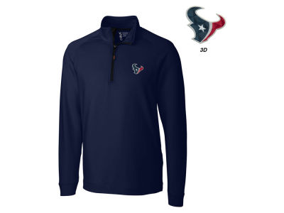Houston Texans Cutter & Buck NFL Men's Jackson Overknit 1/4 Zip Pullover