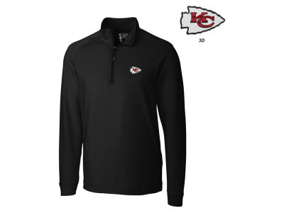 Kansas City Chiefs Cutter & Buck NFL Men's Jackson Overknit 1/4 Zip Pullover