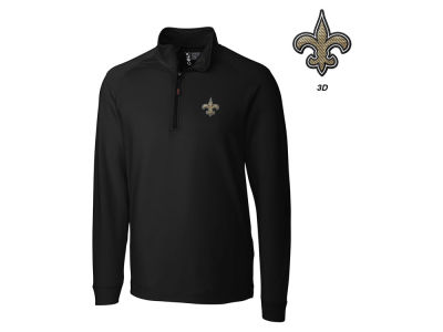 New Orleans Saints Cutter & Buck NFL Men's Jackson Overknit 1/4 Zip Pullover