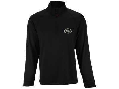 New York Jets Cutter & Buck NFL Men's Jackson Overknit 1/4 Zip Pullover