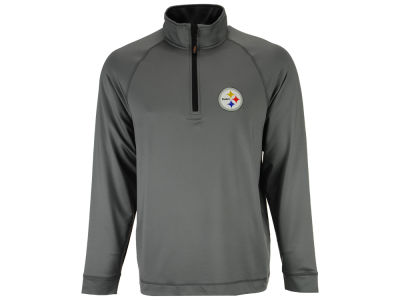 Pittsburgh Steelers Cutter & Buck NFL Men's Jackson Overknit 1/4 Zip Pullover