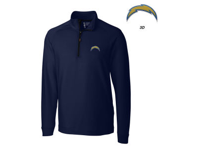 Los Angeles Chargers Cutter & Buck NFL Men's Jackson Overknit 1/4 Zip Pullover