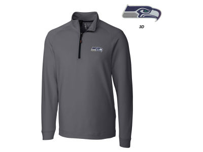 Seattle Seahawks Cutter & Buck NFL Men's Jackson Overknit 1/4 Zip Pullover