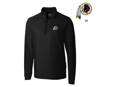 Washington Redskins Cutter & Buck NFL Men's Jackson Overknit 1/4 Zip Pullover
