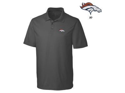 Denver Broncos Cutter & Buck NFL Men's 3D Emblem Fairwood Polo Shirt
