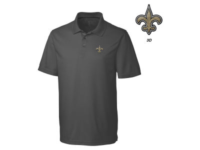 New Orleans Saints Cutter & Buck NFL Men's 3D Emblem Fairwood Polo Shirt