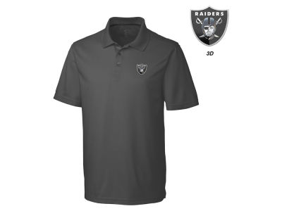 Oakland Raiders Cutter & Buck NFL Men's 3D Emblem Fairwood Polo Shirt