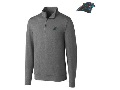 Carolina Panthers Cutter & Buck NFL Men's Shoreline 1/4 Zip Pullover