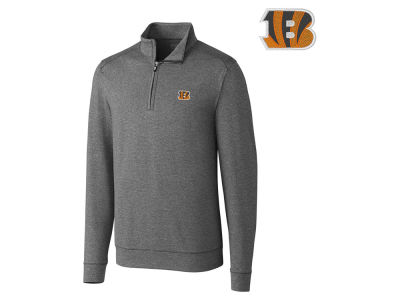 Cincinnati Bengals Cutter & Buck NFL Men's Shoreline 1/4 Zip Pullover