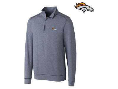 Denver Broncos Cutter & Buck NFL Men's Shoreline 1/4 Zip Pullover