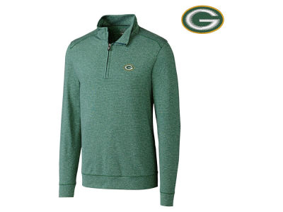 Green Bay Packers Cutter & Buck NFL Men's Shoreline 1/4 Zip Pullover