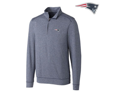 New England Patriots Cutter & Buck NFL Men's Shoreline 1/4 Zip Pullover