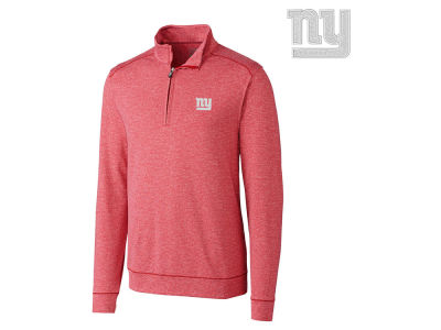 New York Giants Cutter & Buck NFL Men's Shoreline 1/4 Zip Pullover