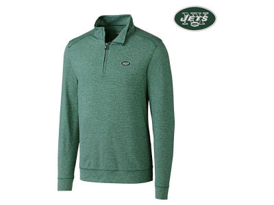 New York Jets Cutter & Buck NFL Men's Shoreline 1/4 Zip Pullover