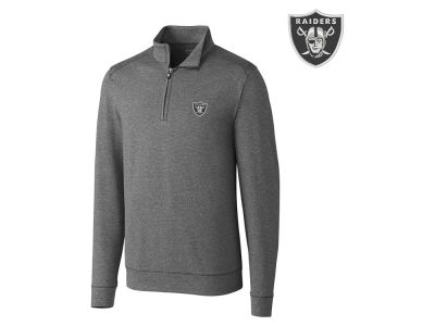 Oakland Raiders Cutter & Buck NFL Men's Shoreline 1/4 Zip Pullover