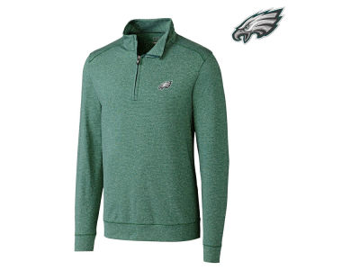 Philadelphia Eagles Cutter & Buck NFL Men's Shoreline 1/4 Zip Pullover