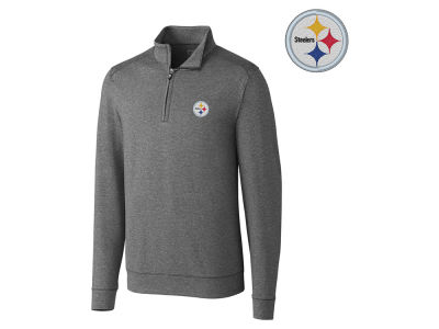Pittsburgh Steelers Cutter & Buck NFL Men's Shoreline 1/4 Zip Pullover