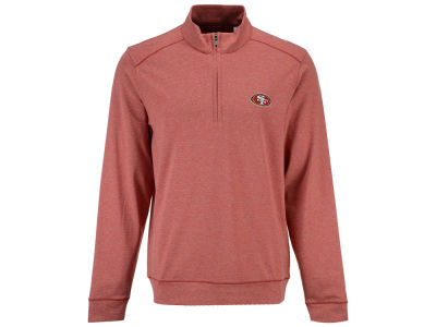 San Francisco 49ers Cutter & Buck NFL Men's Shoreline 1/4 Zip Pullover