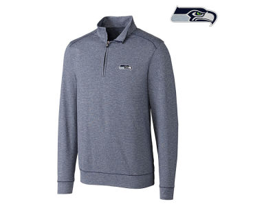 Seattle Seahawks Cutter & Buck NFL Men's Shoreline 1/4 Zip Pullover