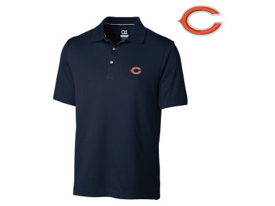 Chicago Bears Cutter & Buck NFL Men's DryTec Glendale Polo Shirt