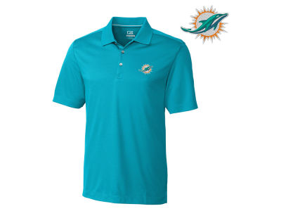 Miami Dolphins Cutter & Buck NFL Men's DryTec Glendale Polo Shirt