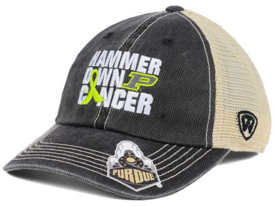 Purdue Boilermakers Top of the World NCAA Hammer Down Cancer Cap