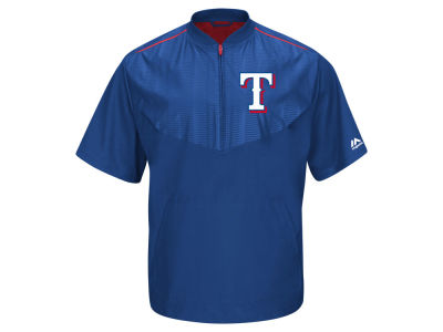 Texas Rangers Majestic MLB Men's AC Short Sleeve Training Jacket