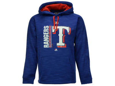 Texas Rangers Majestic MLB Men's On-Field Icon Hoodie