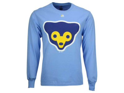 Chicago Cubs Majestic MLB Men's Coop Legacy Logo Long Sleeve T-Shirt
