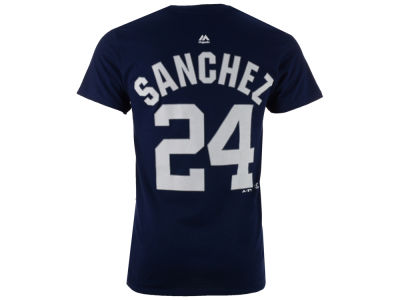 New York Yankees Gary Sanchez Majestic MLB Men's Official Player T-Shirt