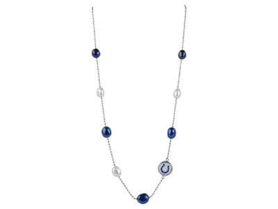 Indianapolis Colts Honora Honora Necklace with Multi Color Pearls and Charm