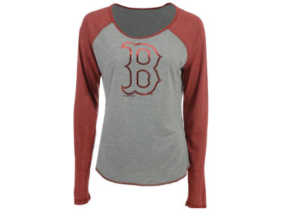 Boston Red Sox Touch by Alyssa Milano MLB Women's Line Drive Long Sleeve T-Shirt