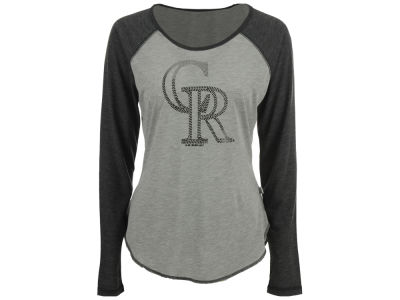 Colorado Rockies Touch by Alyssa Milano MLB Women's Line Drive Long Sleeve T-Shirt