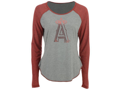 Los Angeles Angels Touch by Alyssa Milano MLB Women's Line Drive Long Sleeve T-Shirt
