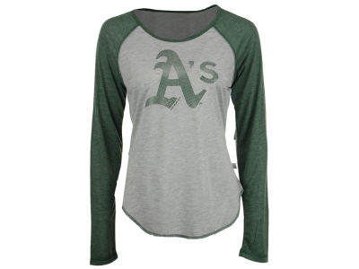 Oakland Athletics Touch by Alyssa Milano MLB Women's Line Drive Long Sleeve T-Shirt