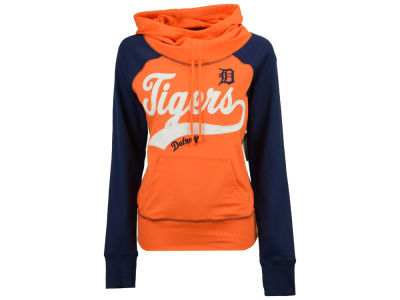 Detroit Tigers G-III Sports MLB Women's Charge The Mound Hooded Sweatshirt
