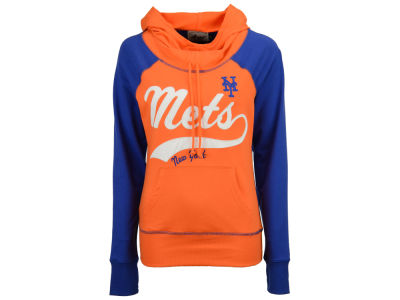New York Mets G-III Sports MLB Women's Charge The Mound Hooded Sweatshirt