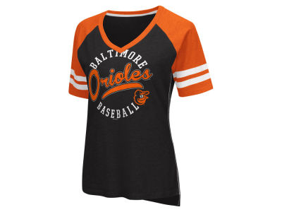 Baltimore Orioles G-III Sports MLB Women's Fastball Sleeve Stripe T-Shirt
