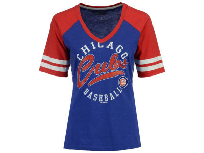 Chicago Cubs G-III Sports MLB Women's Fastball Sleeve Stripe T-Shirt