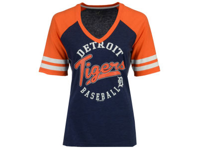 Detroit Tigers G-III Sports MLB Women's Fastball Sleeve Stripe T-Shirt
