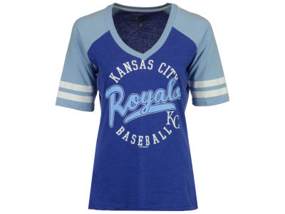 Kansas City Royals G-III Sports MLB Women's Fastball Sleeve Stripe T-Shirt