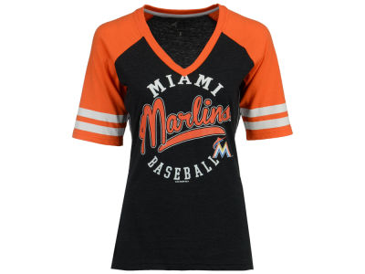 Miami Marlins G-III Sports MLB Women's Fastball Sleeve Stripe T-Shirt