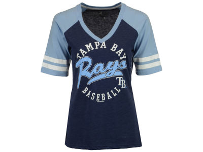 Tampa Bay Rays G-III Sports MLB Women's Fastball Sleeve Stripe T-Shirt
