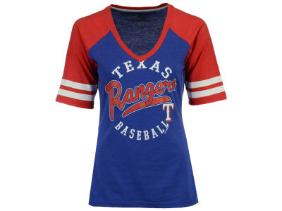 Texas Rangers G-III Sports MLB Women's Fastball Sleeve Stripe T-Shirt