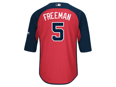 Atlanta Braves Freddie Freeman Majestic MLB Men's On-Field BP Trainer Jersey